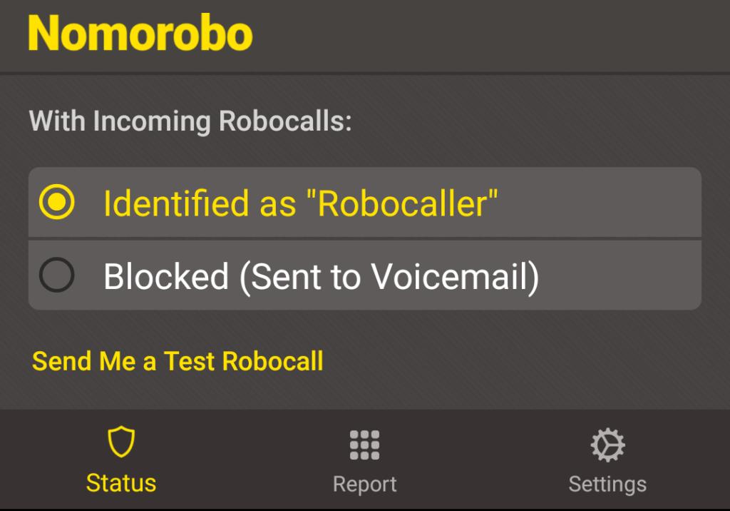 Robocall Settings