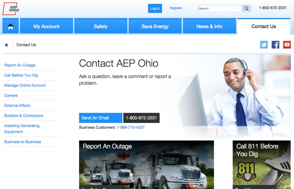 AEP Ohio Contact us