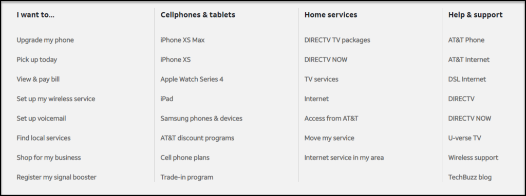 AT&T Products and services
