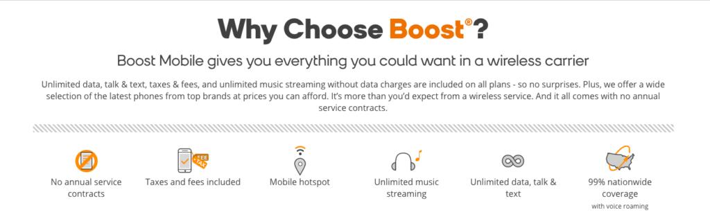 Boost mobile service