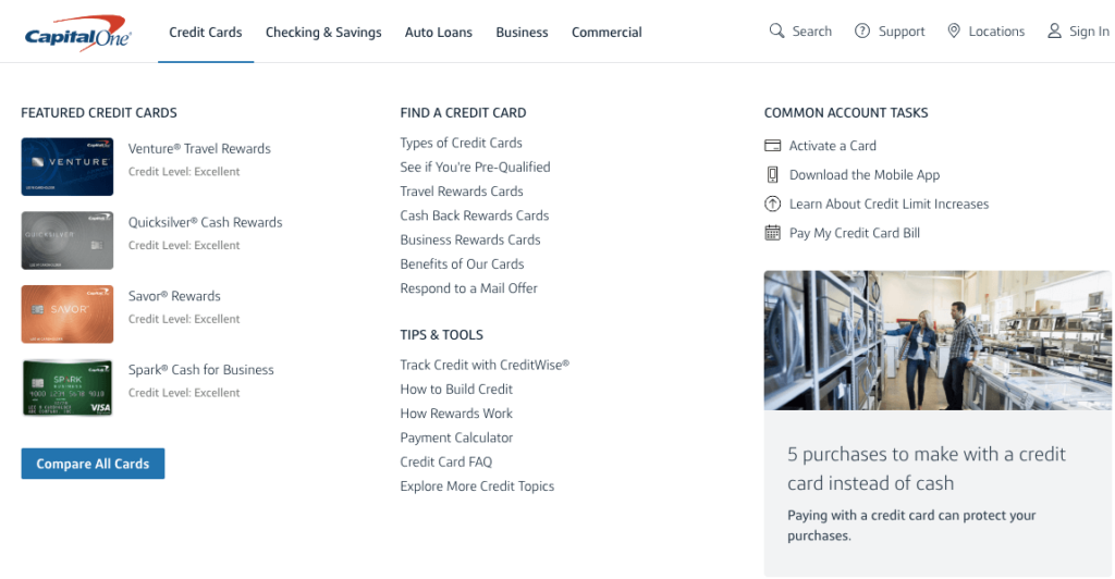 Capital One Auto Finance Credit card