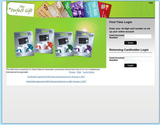 Prepaid Gift Balance login