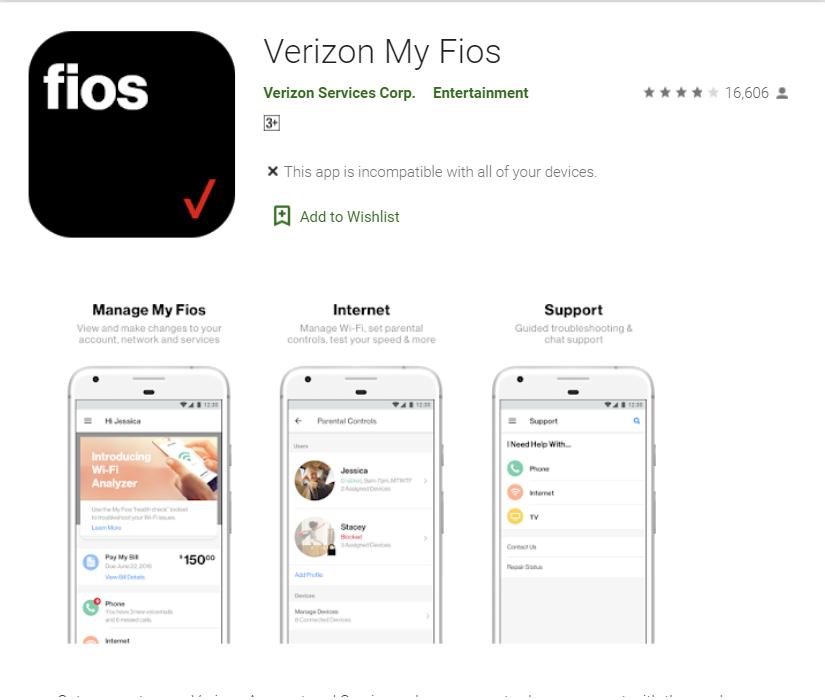 Fios app
