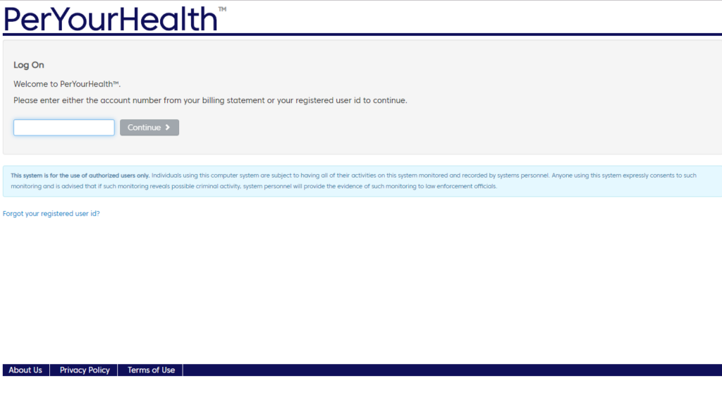 per yourhealth login