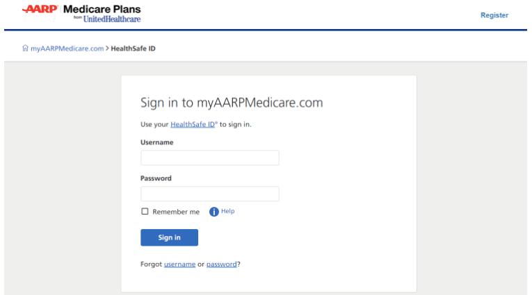 myaarpmedicare.com/login